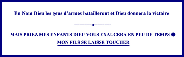 Message Pontmain et Sainte Jeanne d'Arc 800-400