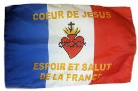 Drapeau de la France au Sacré-coeur